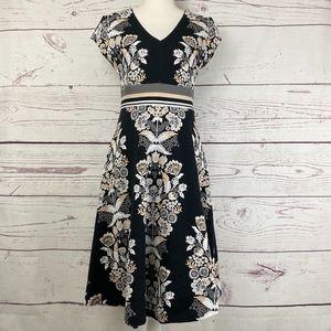 ETT:TWA Soiree Floral Knit Fit & Flare Dress